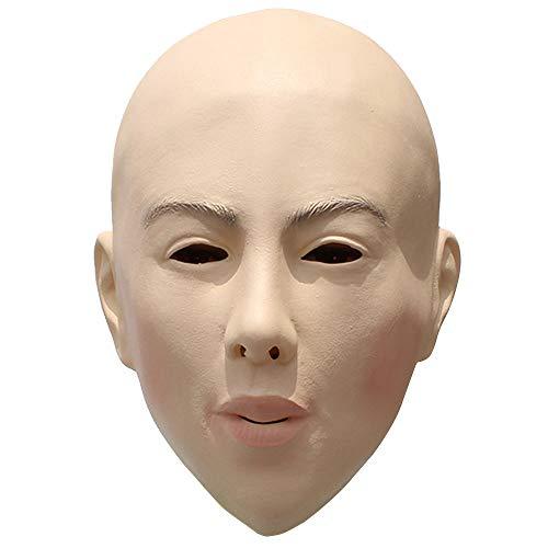 Horror Silikon DIY Maskerade Requisiten Bald Schönheit Maske Spielt Gesichtsmaske Latex Bald Masken ()
