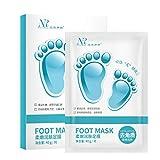 Allbesta 1 Paar Fussmaske zur Hornhautentfernung Fußpeeling Peeling- Maske Hornhaut Socken Entfernung Fußpflege Hornhautentferner Schwielen und abgestorbene