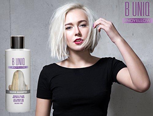 Silbershampoo für blonde, blondierte, gesträhnte & graue Haare – Violett-Pigmente gegen Gelbstich – revitalisierend & sulfatfrei – 250 ml - 4