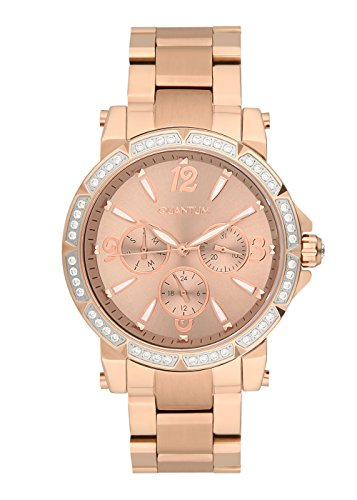 QUANTUM Damen-Armbanduhr Impulse Chronograph Quarz Edelstahl beschichtet IML424.410