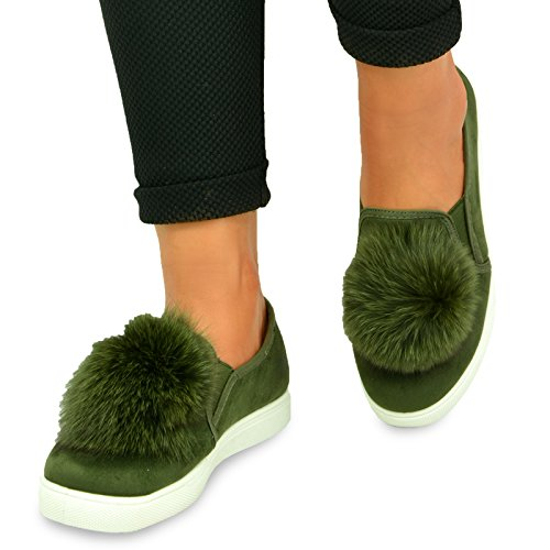 Cucu Fashion , Baskets mode pour femme green