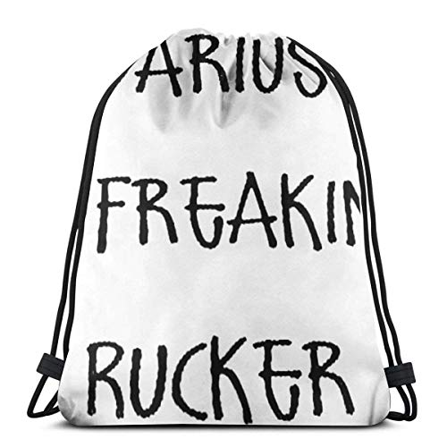 Estrange Freakin Rucker 3D Print Drawstring Backpack Rucksack Shoulder Bags Gym Bag for Adult 16.9