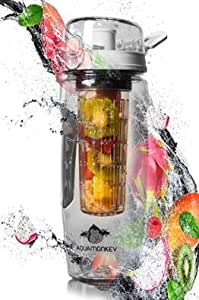 Fruit Infused Water Bottle - Create Your Own Healthy Recipe of Flavored Fruit Infused Water- Large 32 OZ