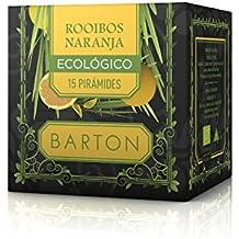Barton Infusión Ecológica de Rooibos y Naranja - 4 Paquetes de 77 gr - Total: 308 gr