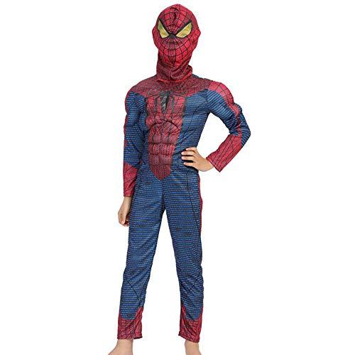 d The Amazing Spider-Man Anime Kostüm Siamese Muscle Performance Kostüm Steel Nano Battle Suit Strumpfhose Weihnachten Halloween Kostüm A-S ()