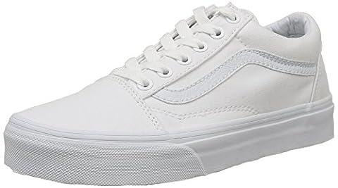 Vans Old Skool, Unisex Adults' Low-Top Trainers, True White, 5.5 UK