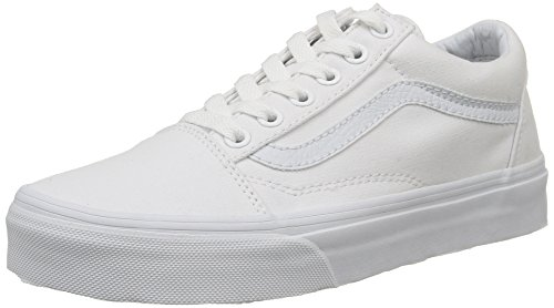 Vans Old Skool, VD3HW00,  Unisex-Erwachsene Sneakers, Weiß (True White), 43 EU (Sneaker Fashion)