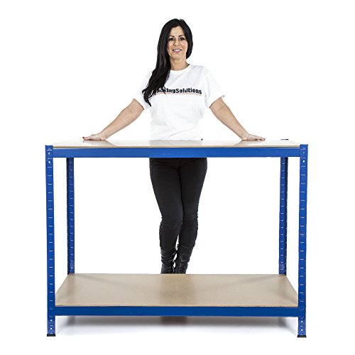 free-next-day-delivery-2-level-workbench-275kgudl-workstation-home-garage-diy-work-table-900mm-h-x-1