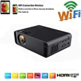 SOTEFE Mini LED Proyector Portable 7000 Lumens - WiFi Proyector Portátil Full HD 1080P Video...