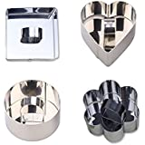 Blacklip Kitchen Pastry Tools Stainless Steel Cake Mousses Cutters (Set Of 4)