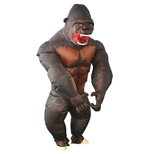 LOVIVER Aufblasbare Affen Kostüm Erwachsene Cosplay Kostüm Fatsuit Fett Anzug