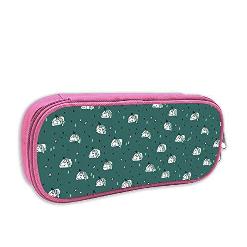 Helen vi Federmäppchen für Kinder mädchen,Einhorn funkelt und Sterne Winter Schnee Design Mädchen Weihnachten grün blau Mint_4662, pink -