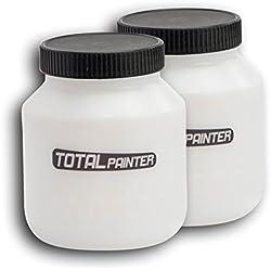Total Painter-Lotto di 2serbatoi per vernice + coperchi per stazione di pittura Total Painter