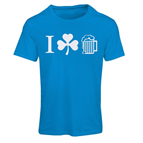 Frauen T-Shirt The Symbols of St. Patrick's Day - Irish Icons (X-Large Blau Mehrfarben)