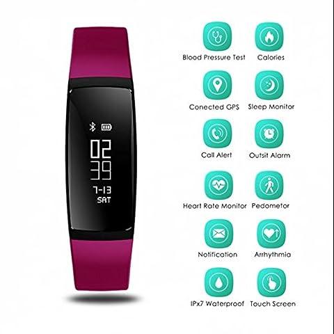 Mp3-Player fitness tracker,Smart-Activity-Band,Sport-fitness armband,OLED Digital Armbanduhr,Herzfrequenz Schrittzähler uhr,Damen Herren fitness armband