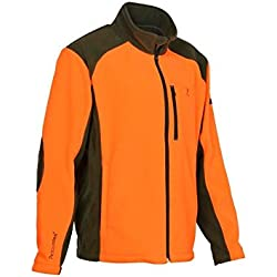 Percussion - Blouson polaire chasse Cor orange broderie Percussion-XL