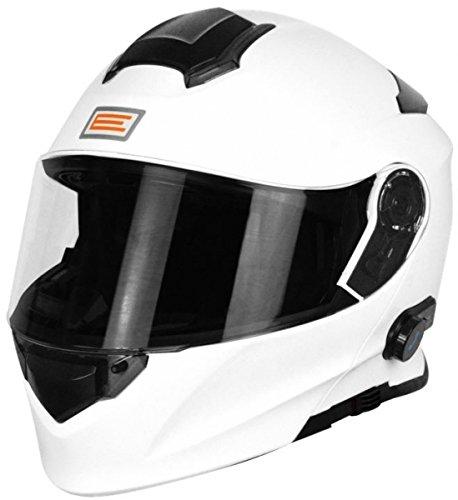 Origine Helmets 204271718100005Delta Solid casco desmontable con Bluetooth integrado, blanco, L