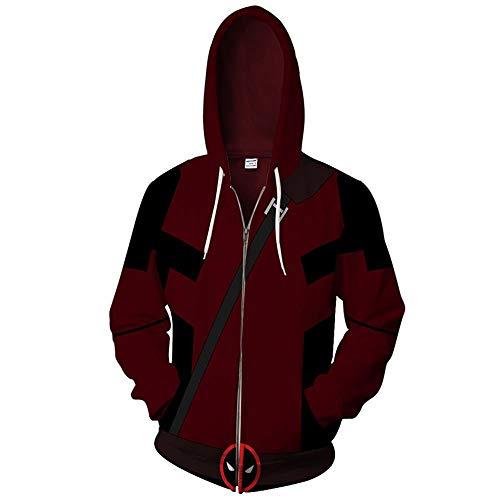Yuxua Männer und Frauen Unisex 3D gedruckt Hoodie Sweaterhirt Deadpool XXXXL - Mlc Tasche
