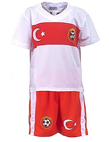 Fussball Fan Set Türkei, Trikot + Shorts, Gr. 128/134, JS76.10