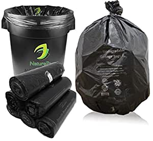 PRAKRUTIK Garbage Bags Biodegradable For Kitchen,Office,Large Size (60cmx81cm)/(24 Inchx32 Inch),(90 Bag).