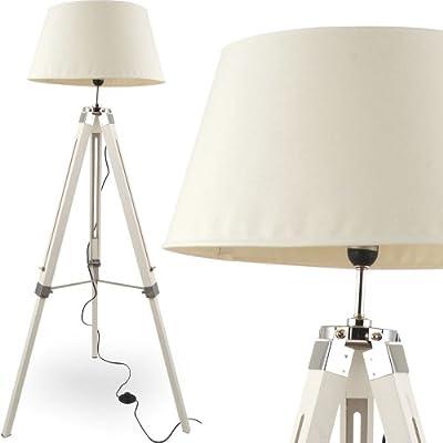MOJO® Stehleuchte Tripod Höhenverstellbar Design Lampe Weiss mq-l34 von mojoliving auf Lampenhans.de