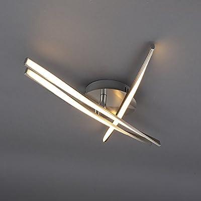 Briloner Leuchten LED Deckenleuchte, Geschwungene Verstellbare Leuchtarme, 3 x 5 W, Metall, Matt-Nickel, 53 x 53 x 8.5 cm von Briloner Leuchten bei Lampenhans.de