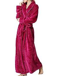 BELLOO Ladies Winter Velvet Fleece Dressing Full Long Fluffy Loungewear Bathrobe