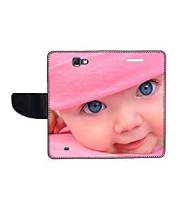 KolorEdge Printed Flip Cover For Samsung Galaxy Note 2 N7100 Multicolor - (55KeMlogo09378SamN7100)