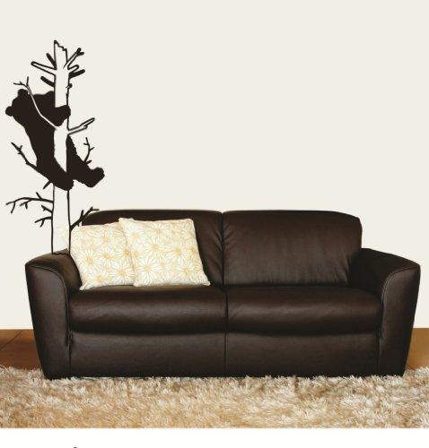 Bär Klettern Einen Baum Tier Bild Kunst-Schlafzimmer Home Living Design-Abziehen & Aufkleben Aufkleber-Vinyl Wall Aufkleber-Größe: 40,6x 121,9cm-22Farben erhältlich
