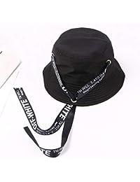 Y-XM Casual Gorra Algodón Cuenca Sombreros con Cordones Bordado Unisexo Anti -UV Cangilón 384350e8469