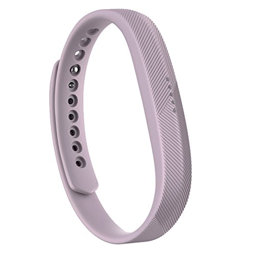 Yiwa Bracelet Fashion Simple Soft Silicone Sostituisci Wrist Band Bracelet per Fitbit Flex 2 Purpl