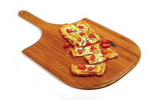Pizza-Schieber, Holz natur ¦ Pizzaschaufel / Brotschaufel aus naturbelassenem Sperrholz für Pizzastein ¦ 1,6 x 30 x 50,5 cm by TARGARIAN