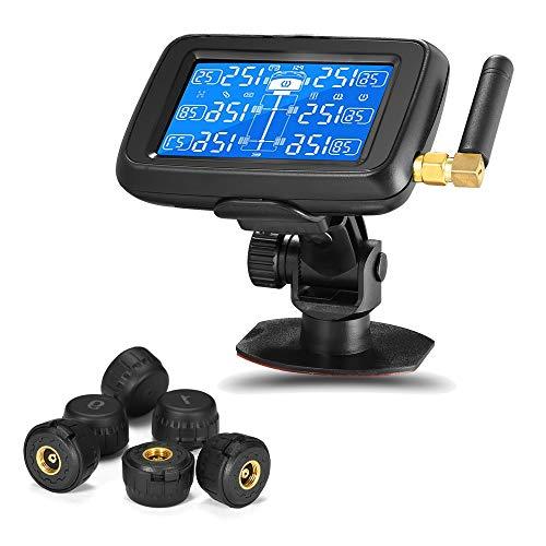 CAREUD-Monitor de Presión de Neumáticos TPMS Vigilar en Tiempo Real Remolque Autocaravana Camión U901