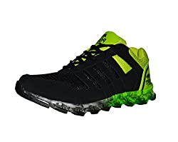 Port Mens Maxpaine Black Running Sports Shoe (8 UK/IND)