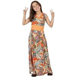Atosa - Disfraz de hippie para niña, talla 3 - 4 años (23674)