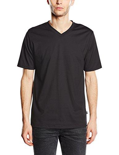 Trigema Herren T-Shirt 637203, Gr. Large, Schwarz (schwarz 008)