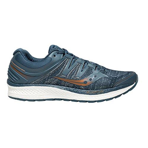 Saucony Men Hurricane ISO 4 Stability Running Shoe Running Shoes Blue - Orange 8