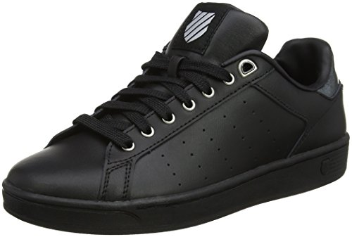 K-Swiss Damen Clean Court CMF Sneaker, Schwarz (Black/Gray Marble), 37 EU