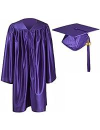 GraduationMall - Vestido de graduación unisex estilo norteamericano para guardería, conjunto de toga y gorro 2016
