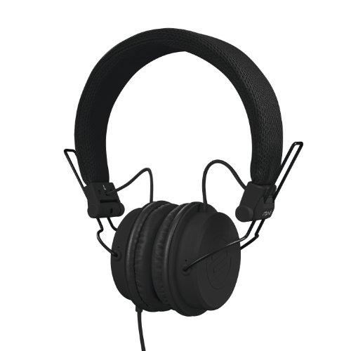 Reloop RHP-6 - DJ- und Lifestyle-Kopfhörer mit abgestimmten Sound, leichte Bauweise und sichere Passform, für Smartphones (Apple iPhone, Android) Tablets, iPods, Mac und PC, (schwarz) Ams Apple