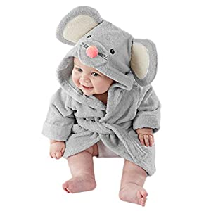 Baby Pajamas, Baby High Quality Lovely Soft Comfortable Cartoon Modeling Sleepwear Toddler Hooded Bath Towel Blanket Bathrobe Wrap, Baby Supplies(s,Gray)
