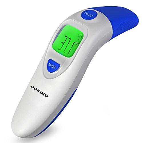 Thermomètre Infrarouge Frontal et Oreille pour Enfant Adult, Deyonce 4-in-1 Thermomètre Bébé...