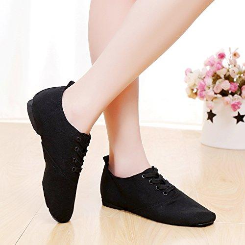 Hohe nach Dance Schuhe canvas jazz dance Schuhe Stiefel weichen Boden Schuhe: moderne Schuhe Ballett Schuhe, Achtundzwanzig, Schwarz (kurz) Paar Praxis Schuhe