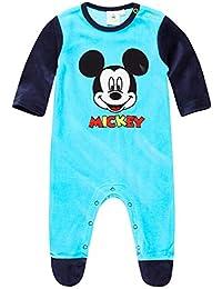 Disney Mickey Strampler Anzug Overall Gr 62-92 blau