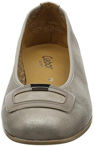 Gabor Shoes 66.103, Ballerine Donna Argento (Mutaro 62)