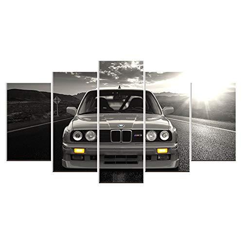iclée-Leinwanddrucke, Wanddekoration, BMW, Auto-Gemälde, Heimdekoration, Sport, Rennwagen, Autos, Bilder zu Hause Size 3:16x24inchx2,16x32inchx2,16x40inchx1 Frame ()