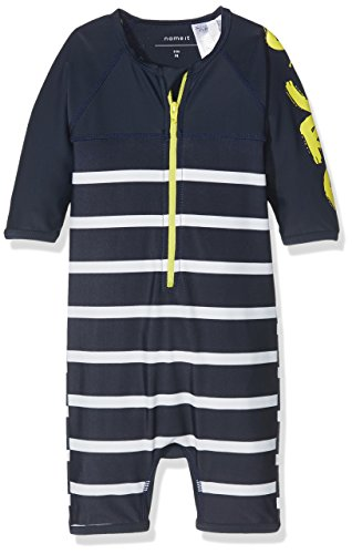 NAME IT Jungen NITZENS UV 3/4 SUIT MZ Einteiler,,per pack Mehrfarbig (Dress Blues Dress Blues),92