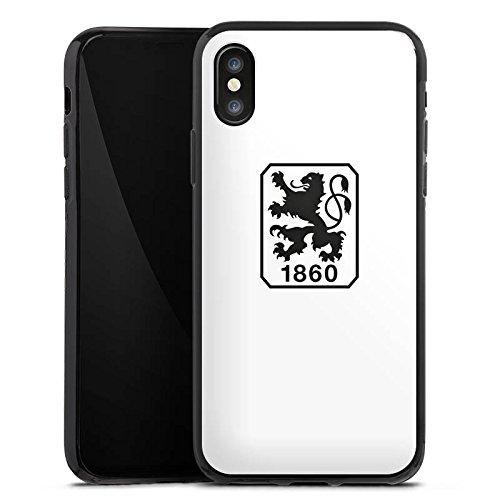 Apple iPhone X Silikon Hülle Case Schutzhülle TSV 1860 München Fanartikel Bundesliga Fussball Silikon Case schwarz