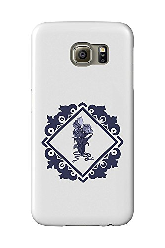 Delft Tulips and Border (Galaxy S6 Cell Phone Case, Slim Barely There) - Delft Tulips