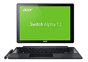 Acer Switch Alpha 12 SA5-271-75UX 30,5 cm (12 Zoll QHD Touch IPS) Convertible Notebook (Intel Core i7-6500U, 8GB RAM, 512GB SSD, Windows 10) silber